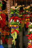Ristra - poivrons mélangés Photos stock