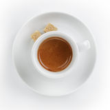 Ristretto espresso in cup with saucer Royalty Free Stock Images