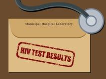 Risultati della prova del HIV Fotografia Stock