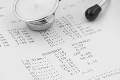 Risultati della prova di Echocardiographical con lo stetoscopio #2 Immagini Stock
