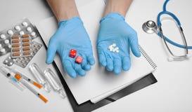 Risultati delle prove a medico Probabilità per il trattamento immagini stock