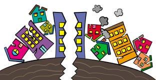 Risultati di terremoto Immagine Stock Libera da Diritti