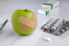 Risultati e farmaco da vendere su ricetta medica di analisi Immagini Stock Libere da Diritti