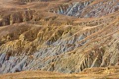 Risultato di erosione di terreno Fotografia Stock