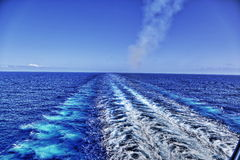 Risveglio dalla nave da crociera Fotografia Stock