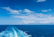 Risveglio della barca Fotografia Stock Libera da Diritti