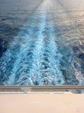 Risveglio della barca Immagine Stock Libera da Diritti