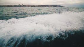 Risveglio della barca rapida video d archivio