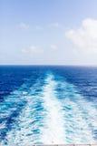 Risveglio delle navi al verticale del mare Fotografia Stock