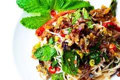 Risvermiceller, Fried Mackerel Spicy Salad 180208 0103 Arkivbilder