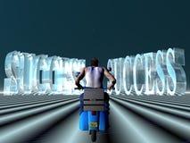 Rit aan succes. stock illustratie