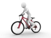 Rit die fiets Stock Foto's