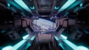 Rit in een ruimteschiptunnel vector illustratie