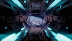 Rit in een ruimteschiptunnel royalty-vrije illustratie