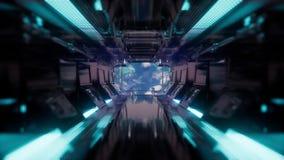 Rit in een ruimteschiptunnel stock illustratie