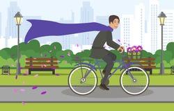 Rit van de de Stadsfiets van Weergevenstraten de Grote door Park vector illustratie