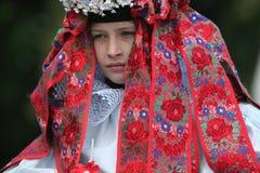Rit van het festival van de Koningenfolklore in Vlcnov, Tsjechische Republiek Stock Fotografie