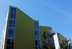 Rita Atkinson Residences building, UCSD. The architecture design of the Rita Atkinson Residences building at UCSD, San Diego, California. Rita Atkinson stock photo