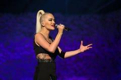 Rita Ora Live ai premi di MOBO, arena di Leeds, Regno Unito fotografia stock