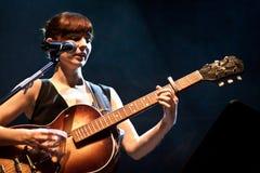 Rita Redshoes Performing Live at Teatro São Luiz Royalty Free Stock Photography