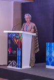 Rita Teaotia (Commerce Secretary, Government of India) addressing the guests at the IIJS 2015 Inaugration Royalty Free Stock Images
