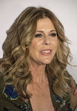 Rita Wilson. Actress, singer, and producer Rita Wilson, arrives at the New York City premiere of Universal Pictures comedic film, My Big Fat Greek Wedding 2, on Royalty Free Stock Photos