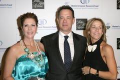Rita Wilson, Sheryl Crow, Tom Hanks Royalty Free Stock Image