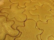 Ritagli del biscotto di zucchero Fotografie Stock