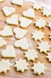 Ritagli della pasta del biscotto immagine stock