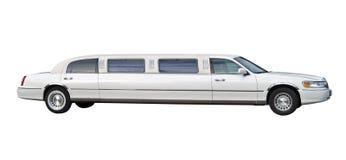 Ritaglio bianco delle limousine Fotografia Stock Libera da Diritti