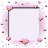 Ritaglio dei cuori del biglietto di S. Valentino illustrazione vettoriale