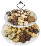 Ritaglio dei piatti dei biscotti Immagine Stock Libera da Diritti