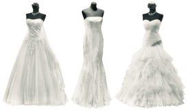 Ritaglio dei vestiti da sposa immagine stock libera da diritti
