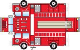 Ritaglio del camion dei vigili del fuoco Immagine Stock