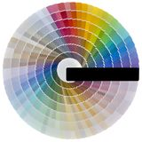 Ritaglio del campione di colore immagini stock libere da diritti