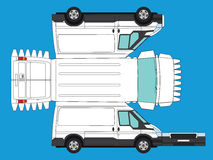 Ritaglio del furgone Immagine Stock Libera da Diritti