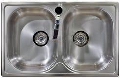 Ritaglio del lavandino di cucina immagine stock