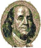 Ritaglio del ritratto di Franklin Benjamin verdure Illustrazione di Stock