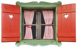 Ritaglio della finestra del chalet immagini stock