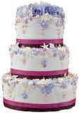 Ritaglio della torta nunziale Fotografie Stock Libere da Diritti