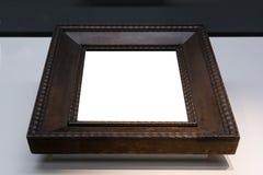 Ritaglio dello spazio in bianco dell'immagine della pittura di Art Museum Frame Vintage Ornate Fotografie Stock