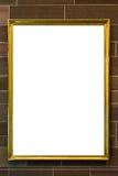 Ritaglio dello spazio in bianco dell'immagine della pittura di Art Museum Frame Vintage Ornate Fotografia Stock Libera da Diritti