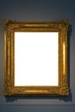 Ritaglio dello spazio in bianco dell'immagine della pittura di Art Museum Frame Vintage Ornate Immagini Stock