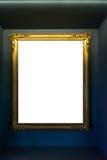 Ritaglio dello spazio in bianco dell'immagine della pittura di Art Museum Frame Vintage Ornate Immagine Stock