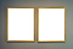 Ritaglio dello spazio in bianco dell'immagine della pittura di Art Museum Frame Vintage Ornate Fotografia Stock