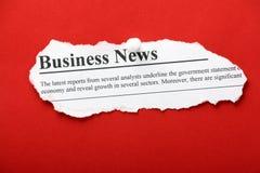 Ritaglio di notizie dal mondo degli affari Fotografia Stock Libera da Diritti