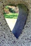 Ritaglio in forma di cuore Fotografie Stock