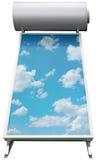Ritaglio solare del sistema del riscaldamento dell'acqua Fotografie Stock