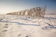 Ritardi di costruzione per neve Immagine Stock Libera da Diritti