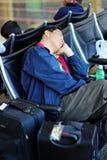 Ritardo dell'aeroporto Fotografia Stock Libera da Diritti